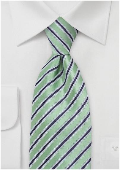 Striped Tie in Citrus Green