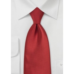 Ruby Red Mens Silk Tie
