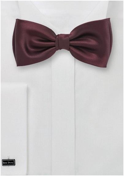 Mahogany Brown Bow Tie