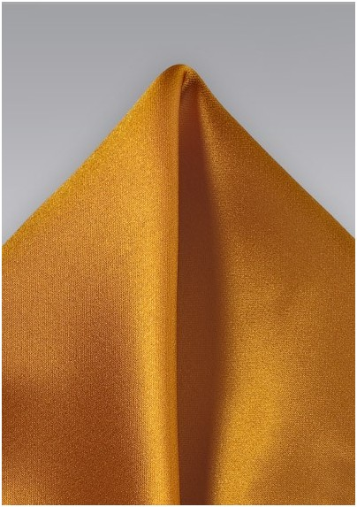 Copper Orange Pocket Square