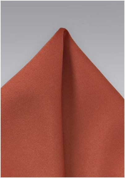 Dark Coral Red Pocket Square