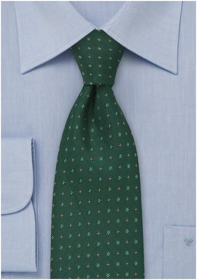 Hunter Green Floral Tie