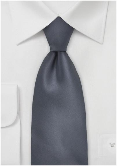 Solid Charcoal Grey Tie