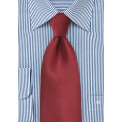 Cranberry Red Tie