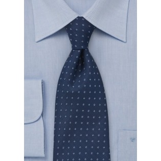 Traditionally Patterned Tie in Blues