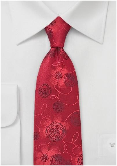 Rose Red Tie