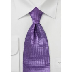 Extra Long Silk Tie in Electric Purple