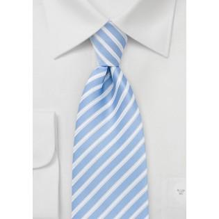 Striped Tie in Summer Blue