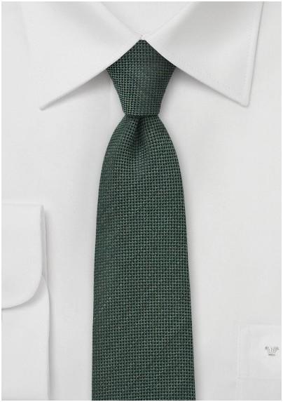 Slim Tie by BlackBird in Olive