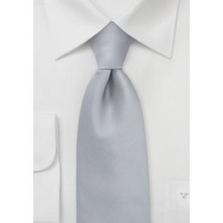 Textured Tie in Platinum