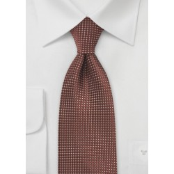 Pin Dot Patterned Tie in Bronze