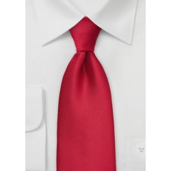 Extra Long Cherry Red Mens Tie