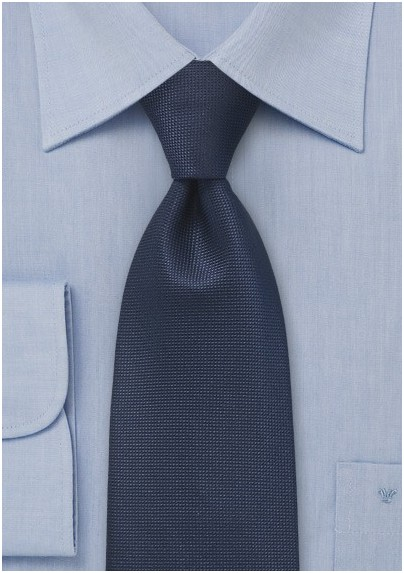 Textured Tie in Indigo Blue