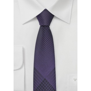Ultra Slim Tie in Purple and Black