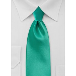 Bright Jade Color Tie in XL