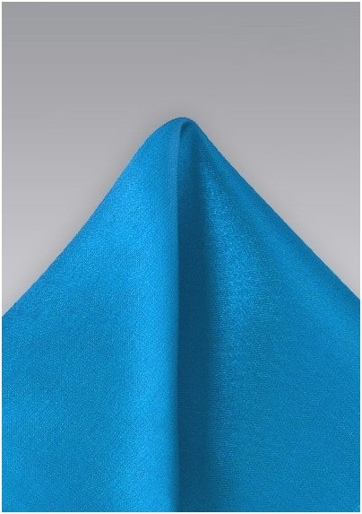 Bright Ice-Blue Men's Pocket Square