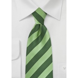 Hunter and Lime Striped Tie