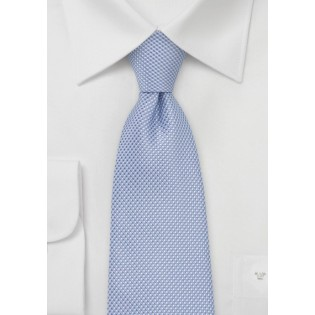 Grenadine Textured Tie in Baby Blue