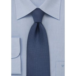 Navy Men's Tie with Grenadine Texture