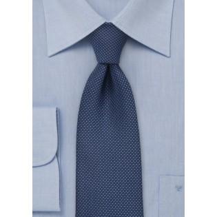 Navy Men's Tie with Grenadine Texture