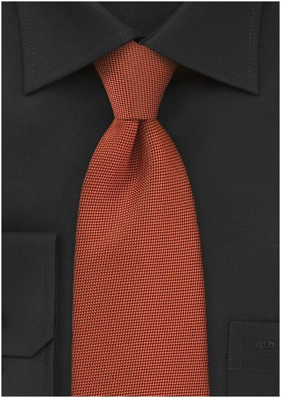 Fall Colored Tie in Rich Persimmon