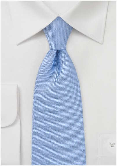 Textured Tie in Light Pacific Blue