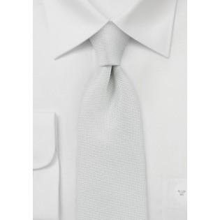 Matte Textured Necktie in Light Ivory