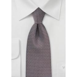 Chevron Patterned Tie in Dark Brown