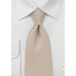 Kids Length Tie in Golden Wheat