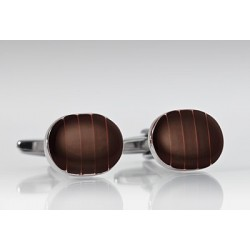 Elegant Mahogany Brown Cufflinks