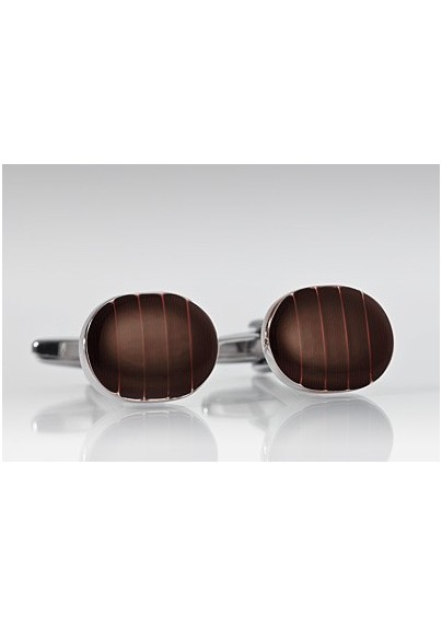 Elegant Mahogany Brown Cufflinks