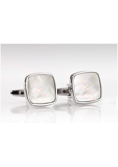 Square Shaped Mother of Pearl Cufflinks