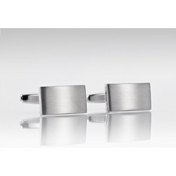 Streamlined Cufflinks in Polished Steel