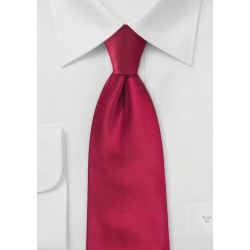Solid Cherry Red Tie for Kids
