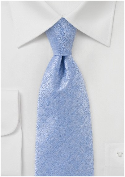 Heathered Tie in Soft Blue