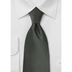Dark Green Mens Necktie in Long Length