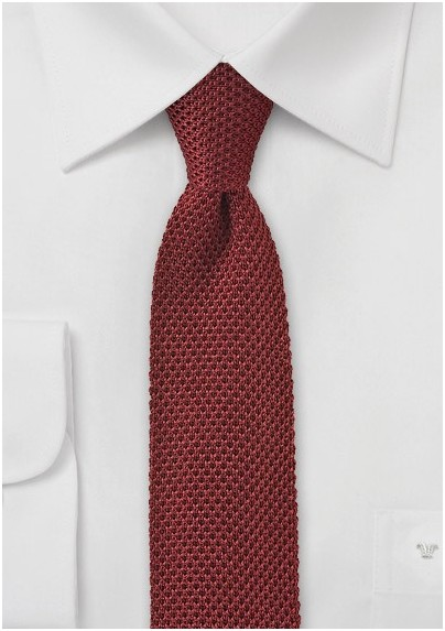 Knitted Tie in Autumn Orange