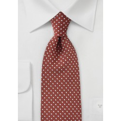 Diamond Patterned Tie in Orange