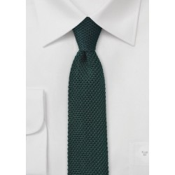 Skinny Knit Tie in Ivy Green