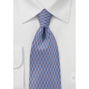 Steel Blue Diamond Tie