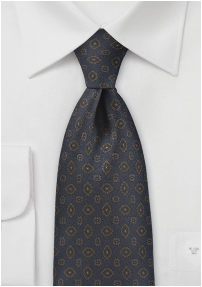 Gemstone Paisley Tie in Midnight Blue