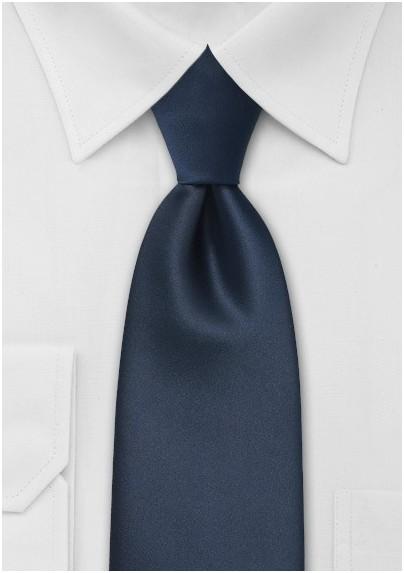 Midnight Blue Kids Length Tie