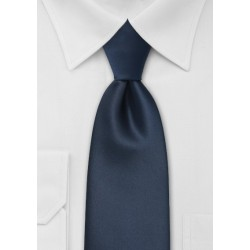 Midnight Blue Mens Necktie Made in Long Length
