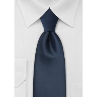 Midnight Blue Mens Necktie Made in Long Length