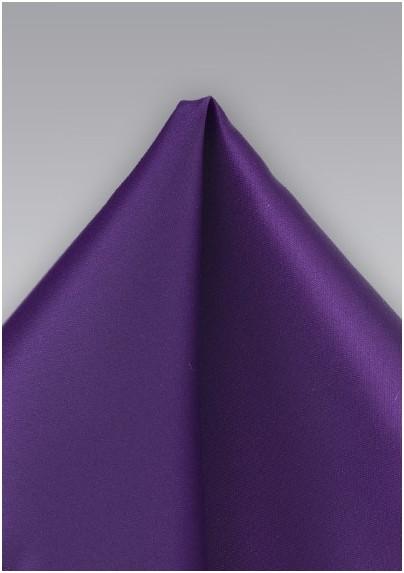 Proper Purple Pocket Square