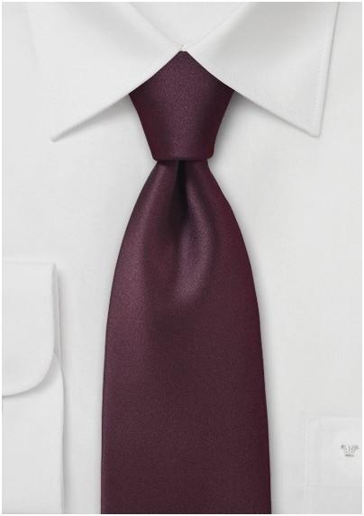 Dark Burgundy Necktie