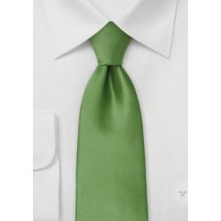 Fern Green Tie in Extra Long Length