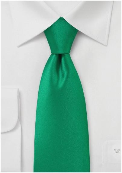 Bright Emerald Green Necktie