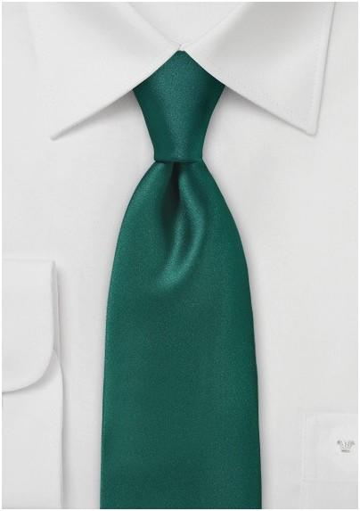 Solid Pine Green Necktie
