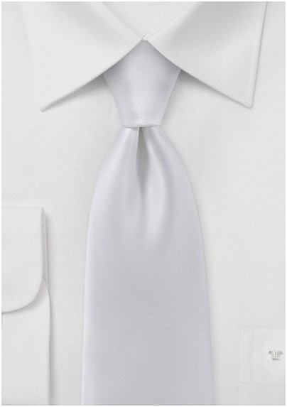Solid White Mens Necktie